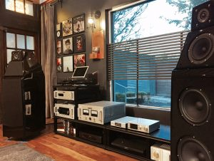Listening room with music