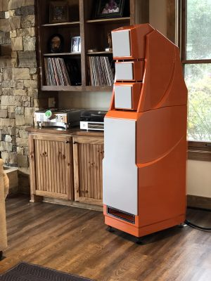 Ranch house with Wilson Audio XLF in orange